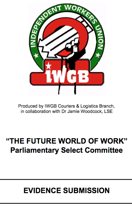 IWGB select committee submission